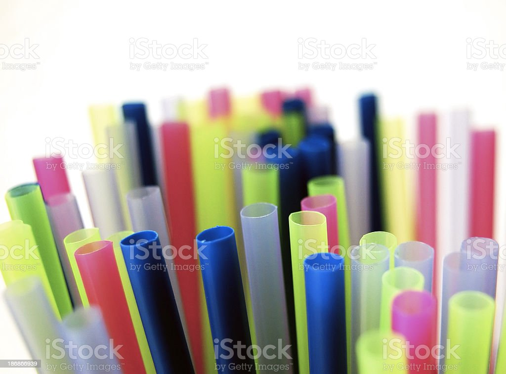 Cocktail Straws royalty-free stock photo