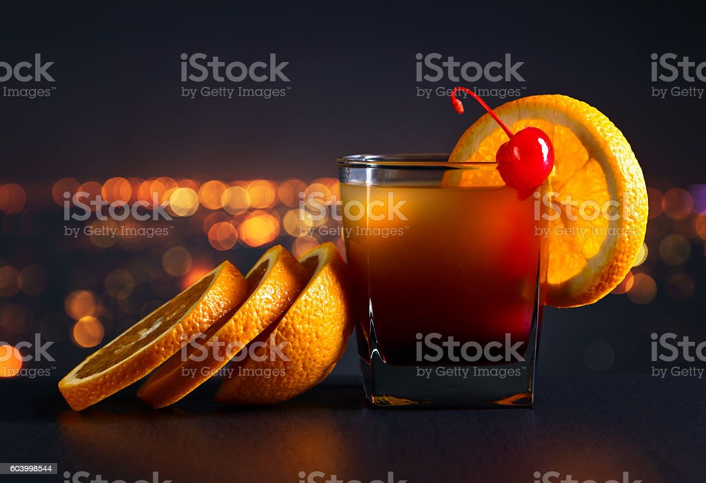 cocktail Tequila sunrise stock photo