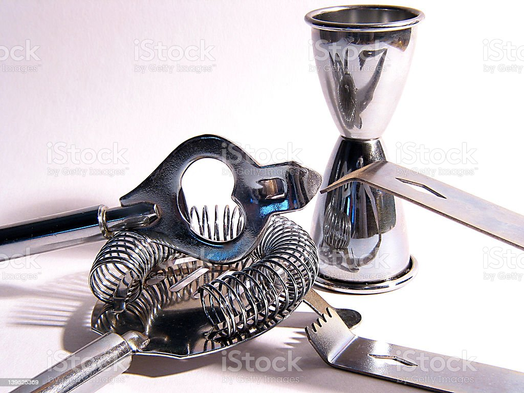 Cocktail tools royalty-free stock photo