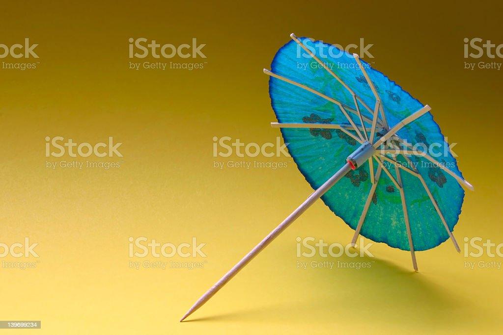 cocktail umbrella - blue #1 stock photo