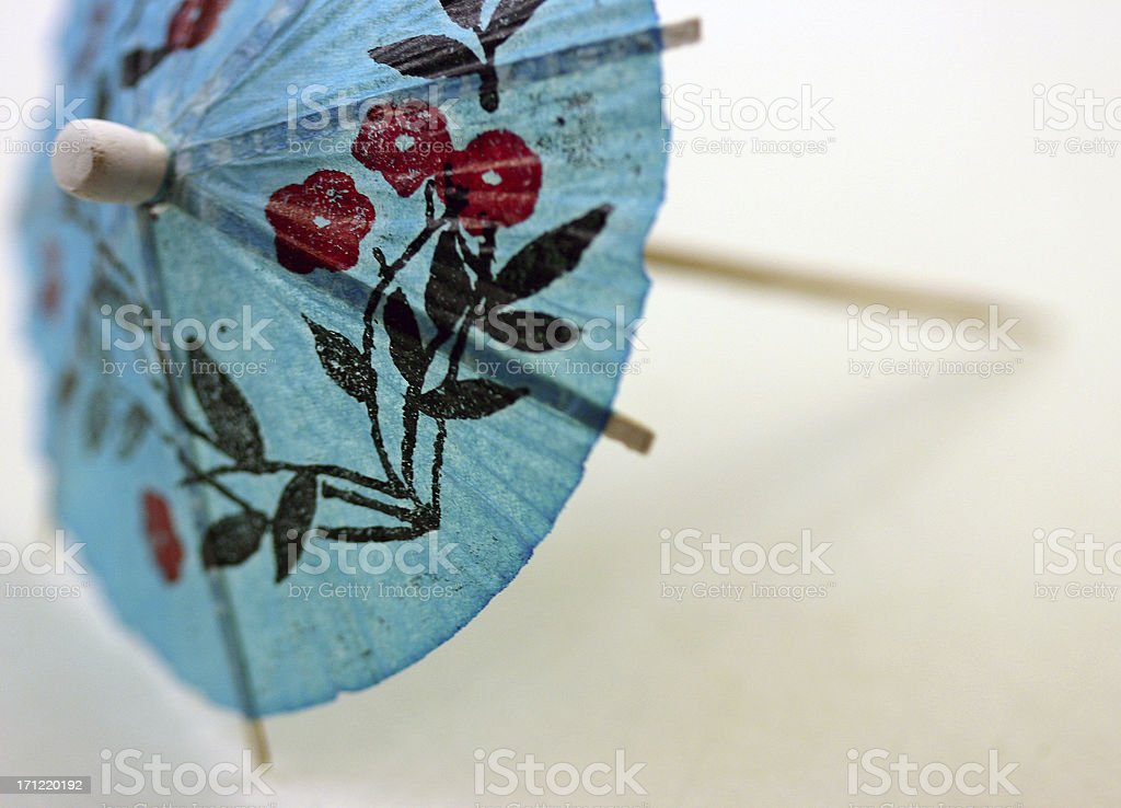 cocktail umbrella, blue royalty-free stock photo