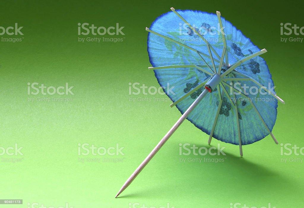cocktail umbrella - blue #3 royalty-free stock photo