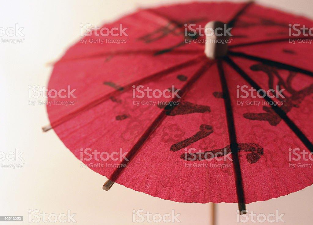 cocktail umbrella, pink royalty-free stock photo