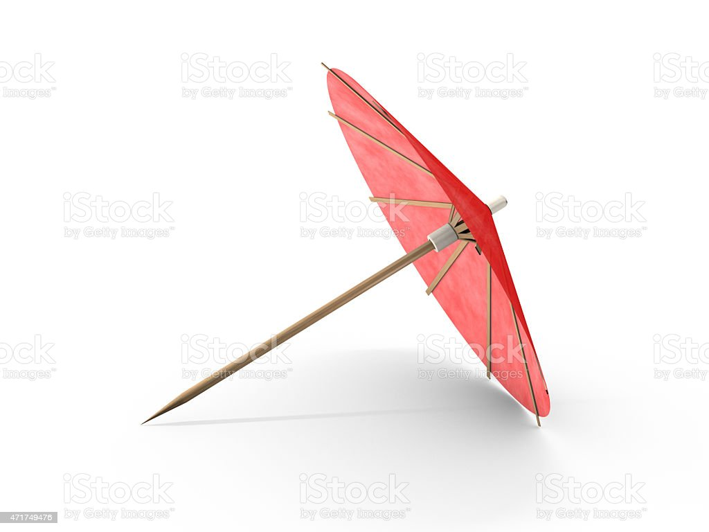 Cocktail umbrella with red colors stock photo