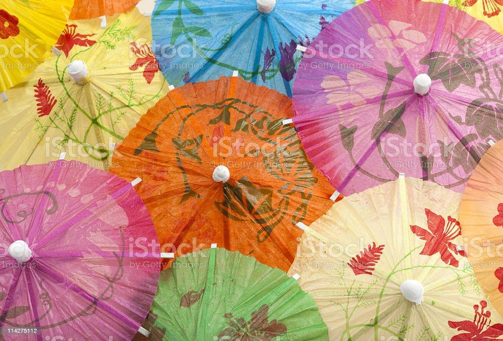 cocktail umbrellas background royalty-free stock photo