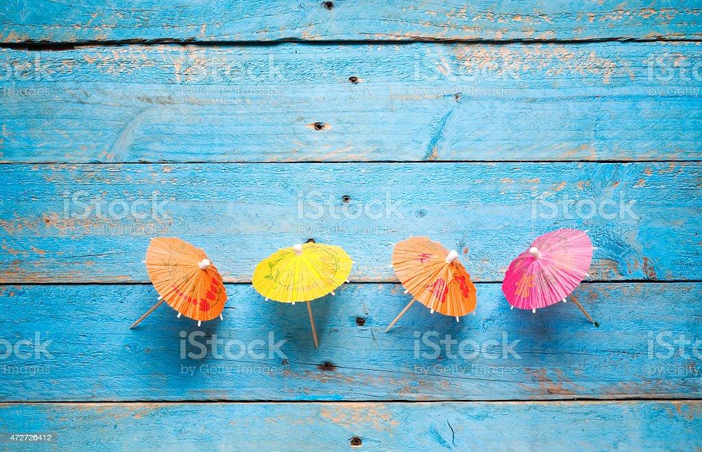 cocktail umbrellas, stock photo