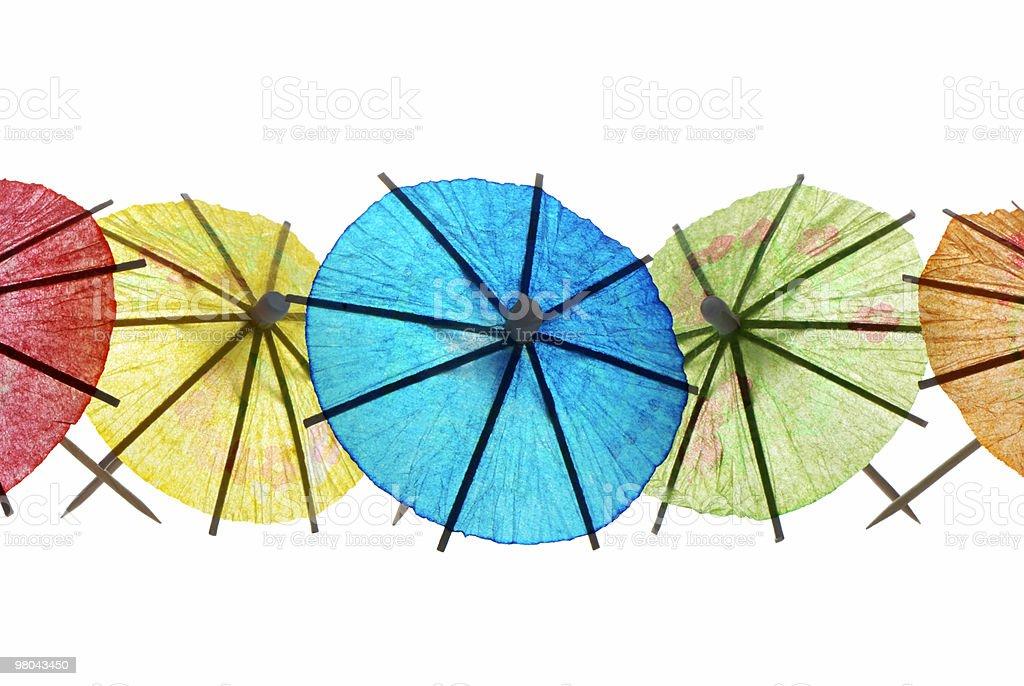 Cocktail umbrellas stock photo
