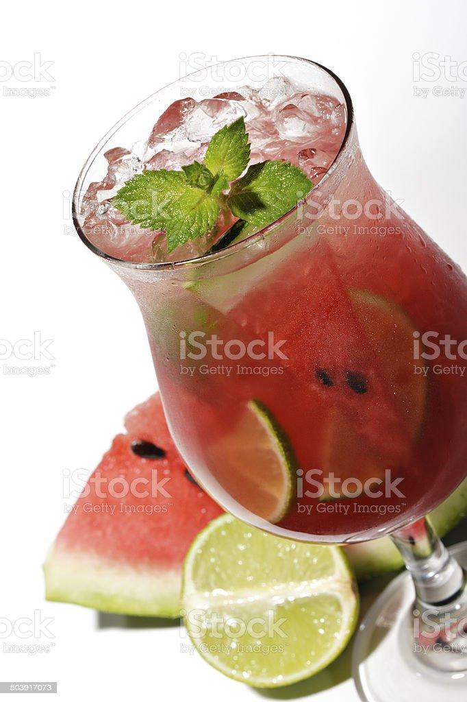 Cocktail - Watermelon Caipirinha stock photo