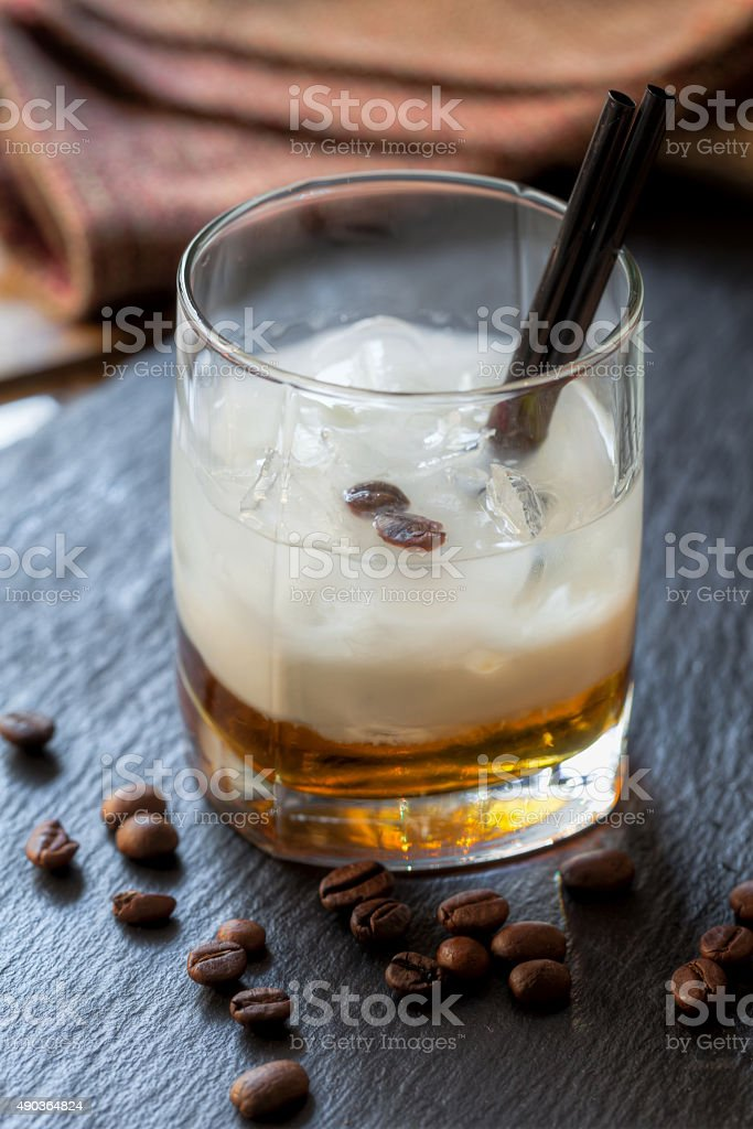 Cocktail white Russian stock photo