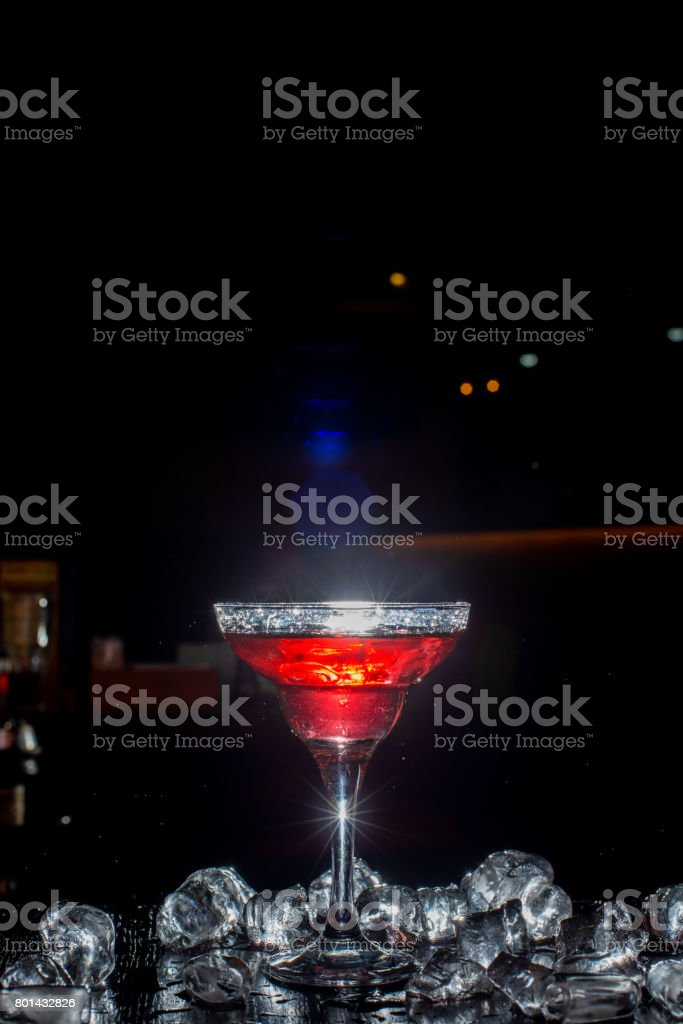Cocktail with a spray stock photo