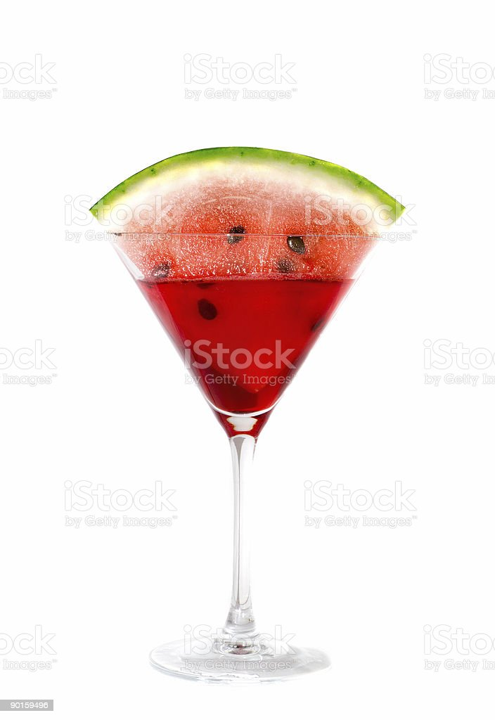 Cocktail with a water-melon. royalty-free stock photo