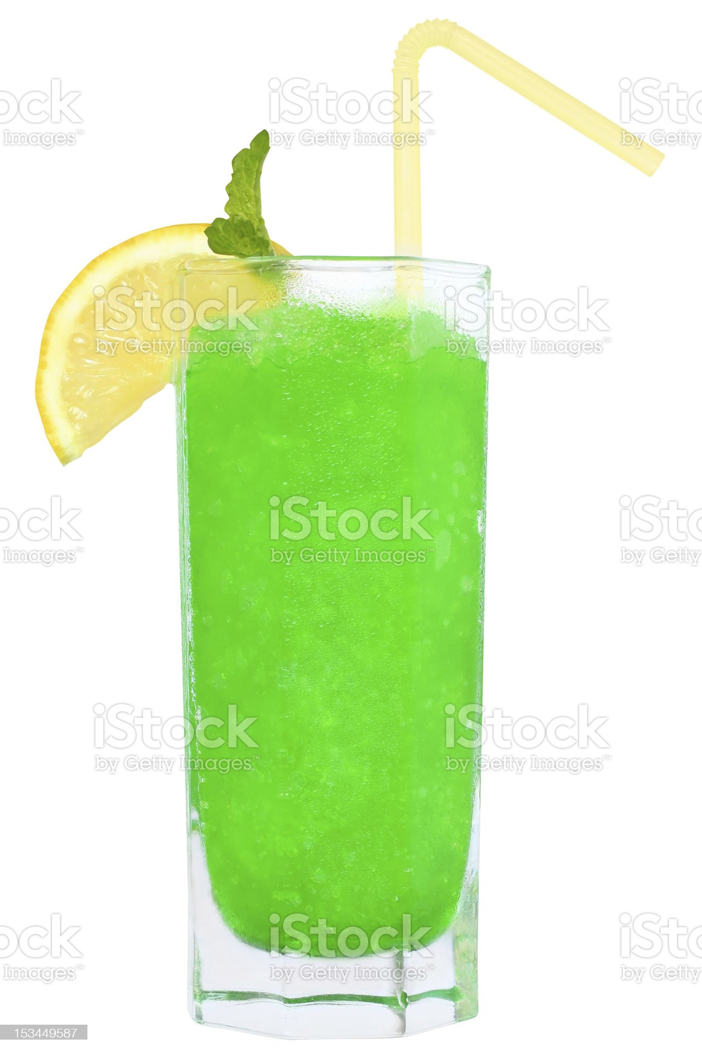 Cocktail with crushed ice royalty-free stock photo