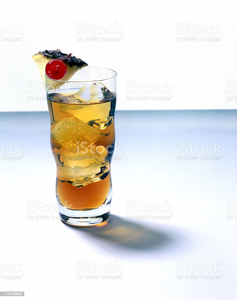 cocktail with fresh pineapple royalty-free stock photo
