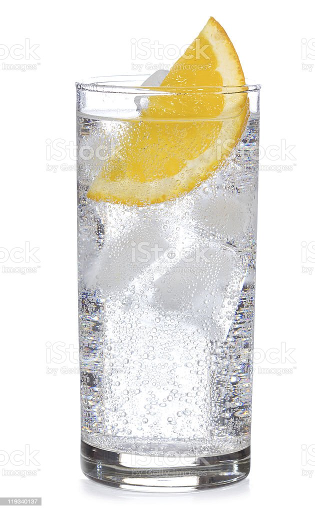cocktail with gin and orange stock photo