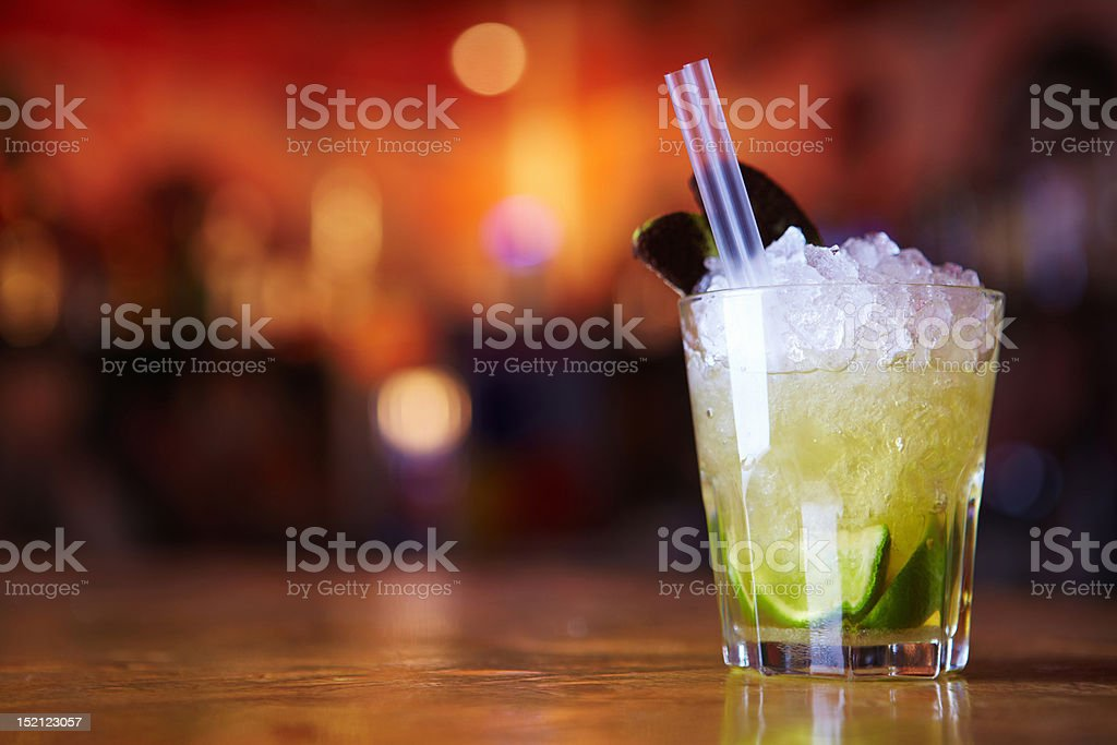 Cocktail with ice stock photo