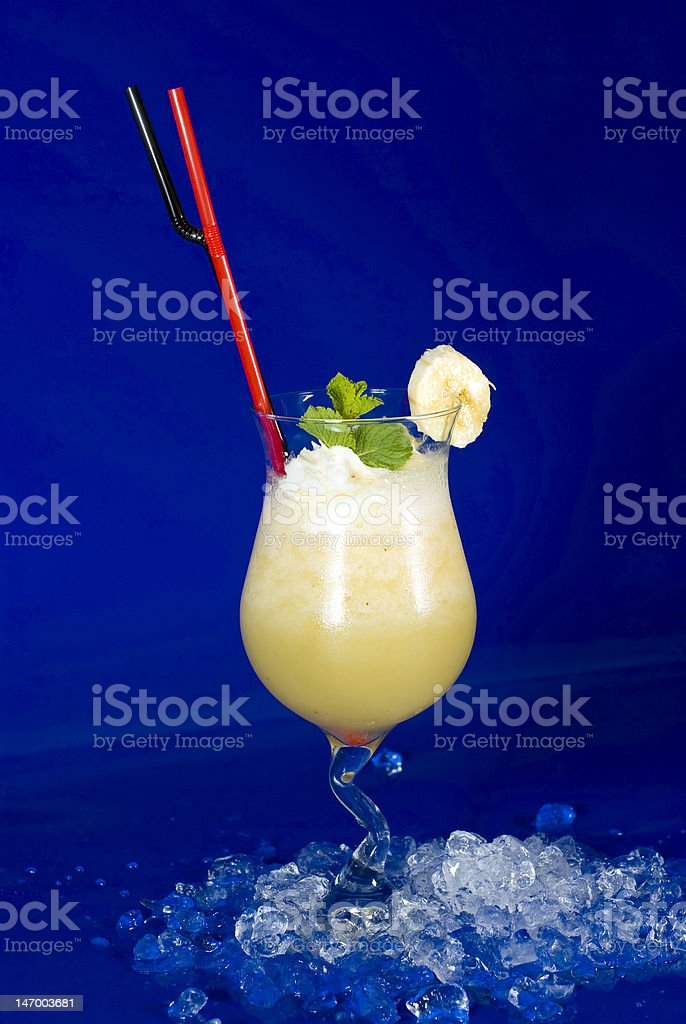 cocktail with icecream stock photo