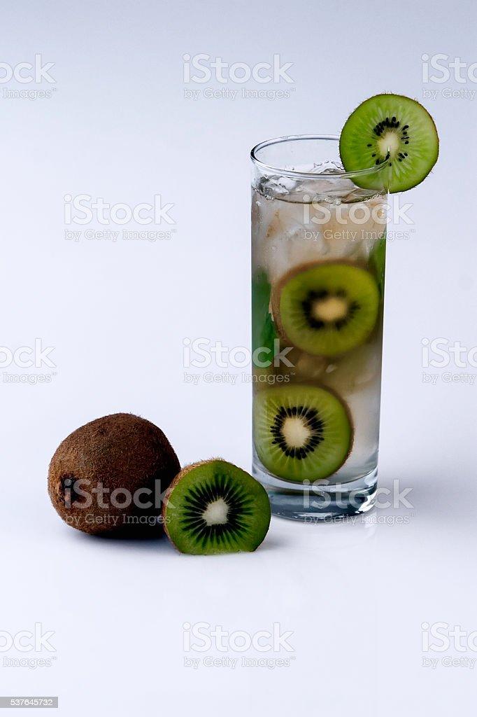 Cocktail with kiwi stock photo