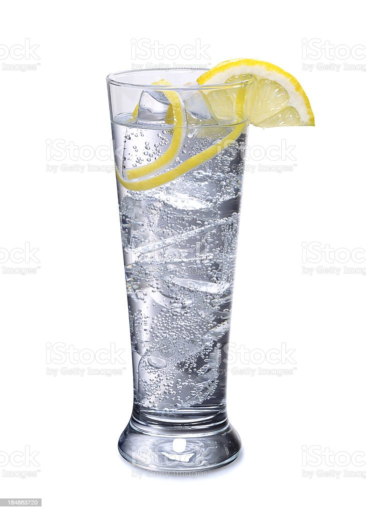 Cocktail with lemon royalty-free stock photo