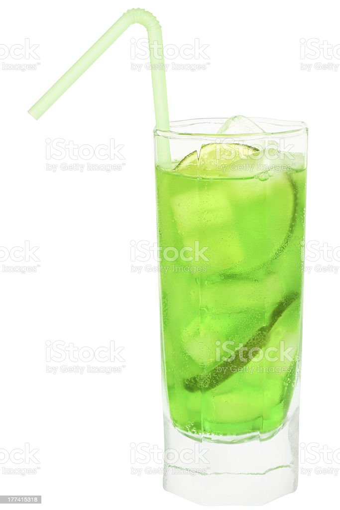 Cocktail with lime. royalty-free stock photo