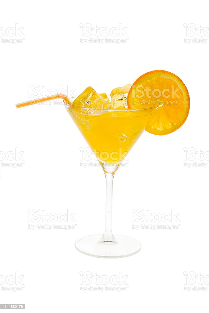 cocktail with orange royalty-free stock photo