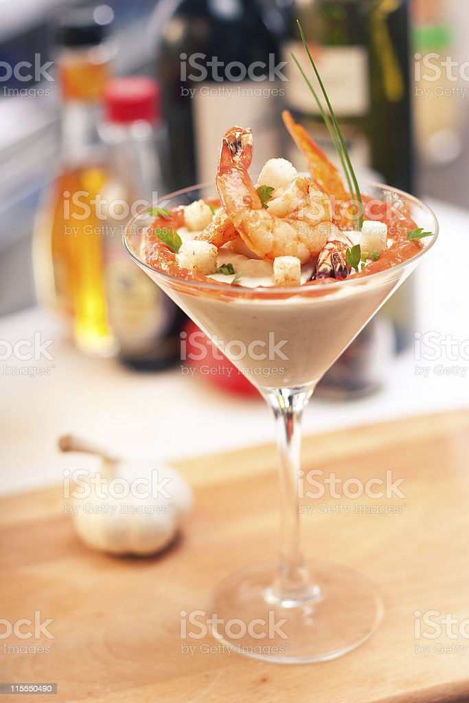 cocktail with seafoods stock photo