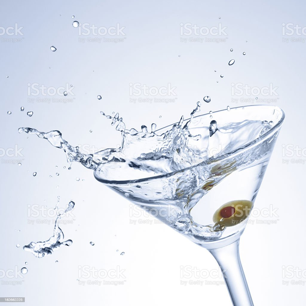 cocktail with splash royalty-free stock photo