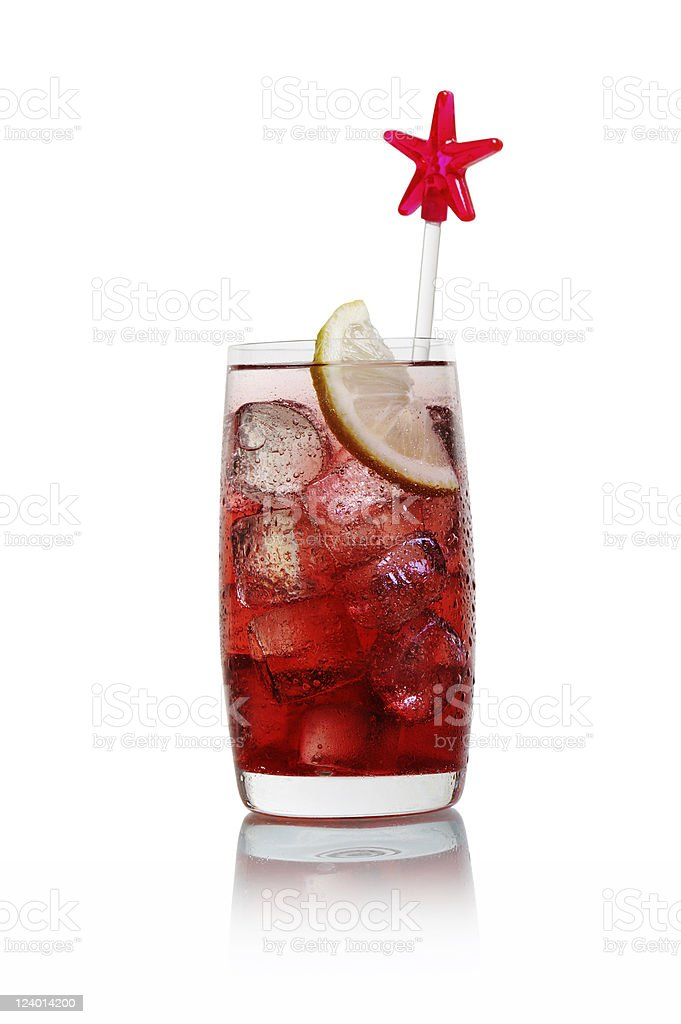 Cocktail with Strawberry Liqueur stock photo