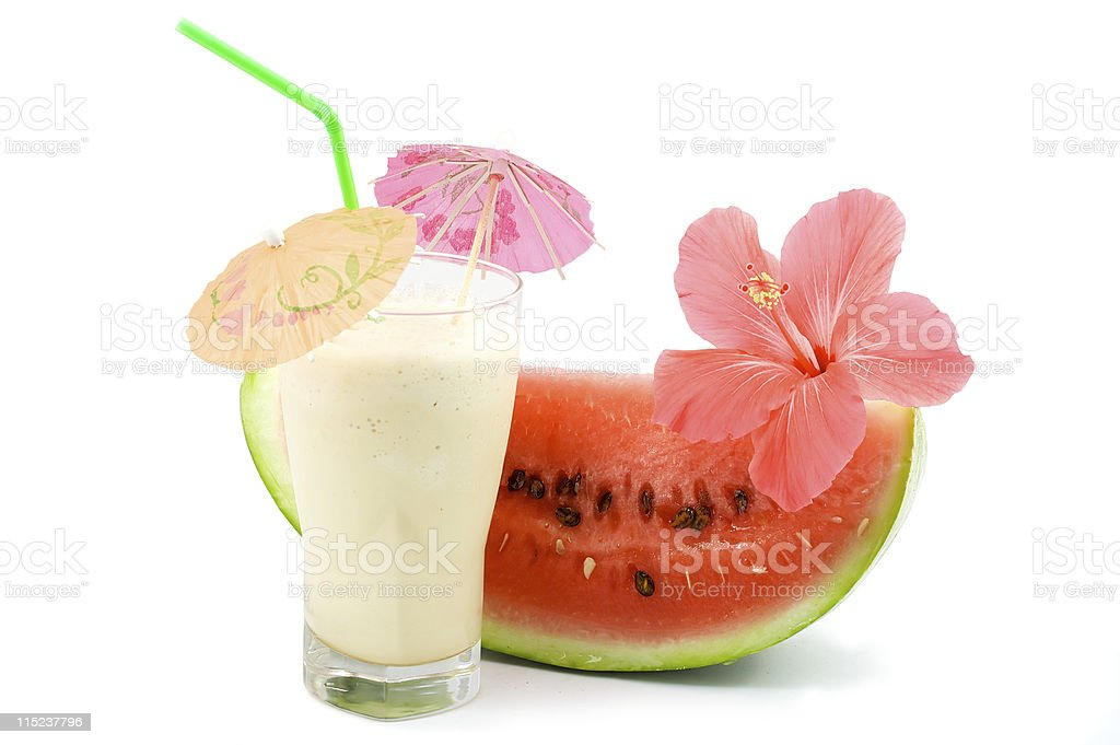 cocktails and fruits stock photo
