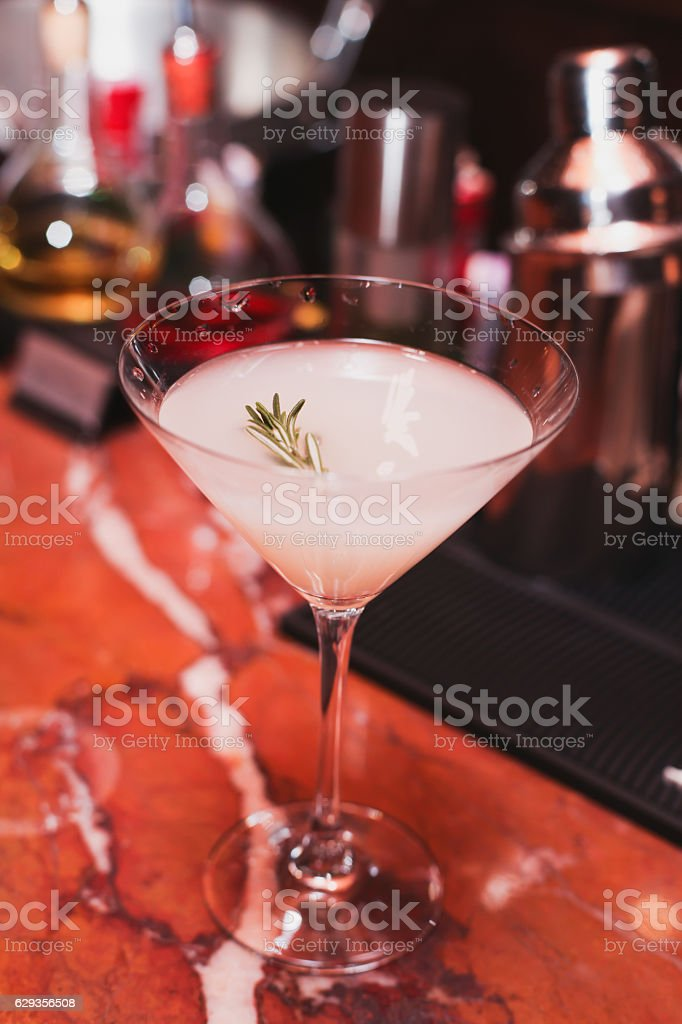 Cocktails at the bar cool delicious stock photo