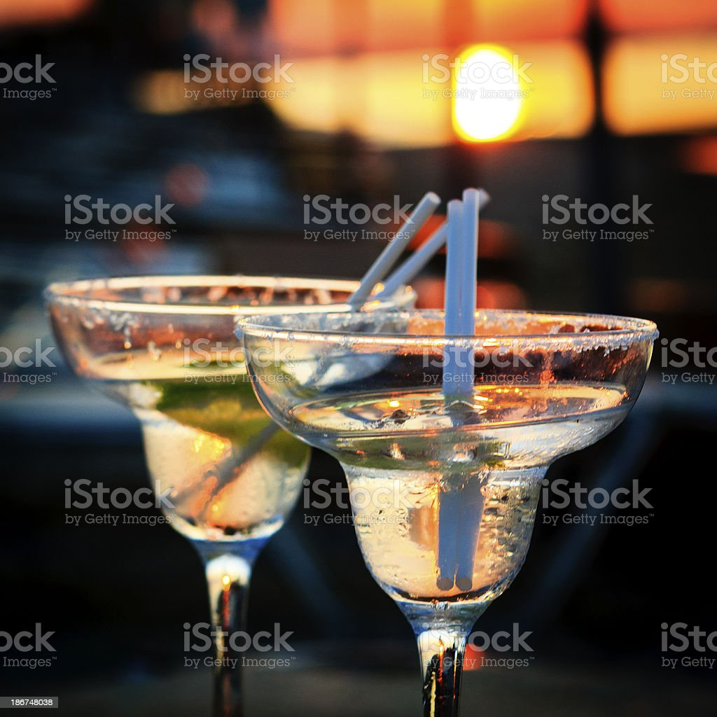 Cocktails beach stock photo