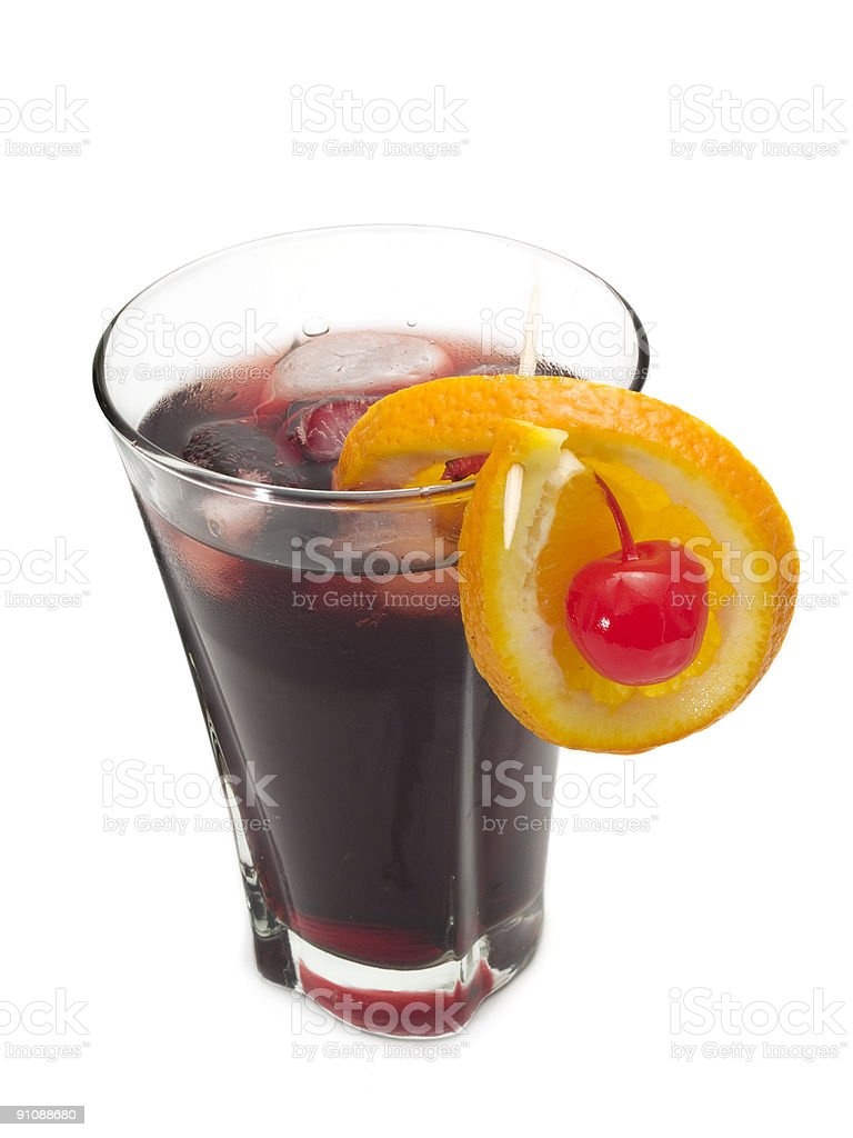 Cocktails Collection - Bacardi Cassis stock photo