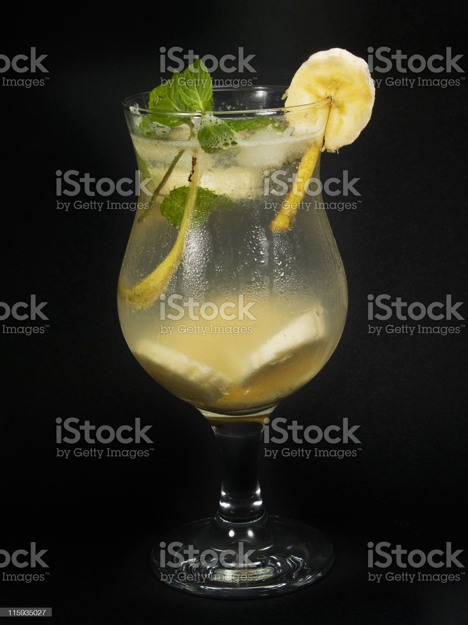 Cocktails Collection - Banana Punch royalty-free stock photo
