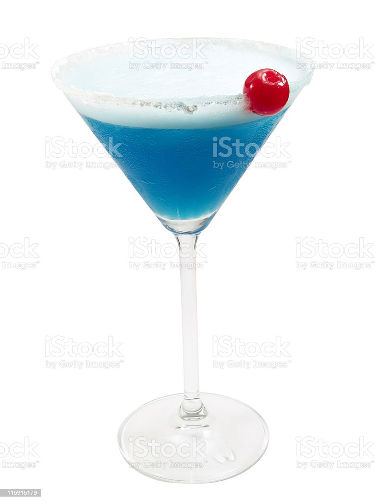 Cocktails Collection - Blue Lady royalty-free stock photo