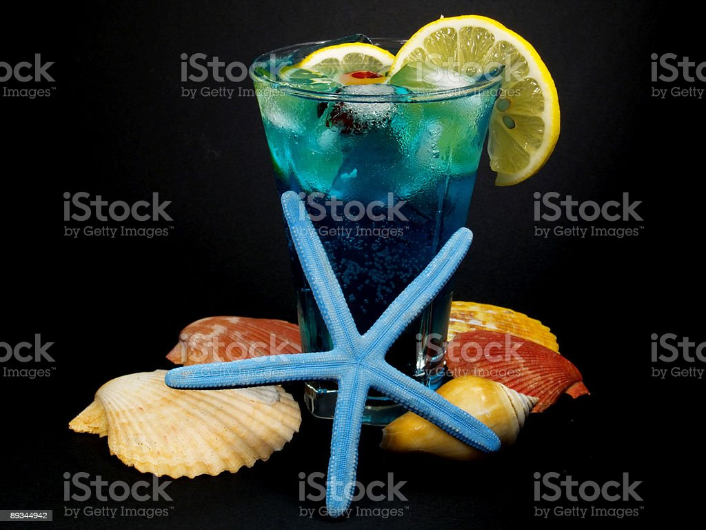 Cocktails Collection - Blue Lagoon royalty-free stock photo