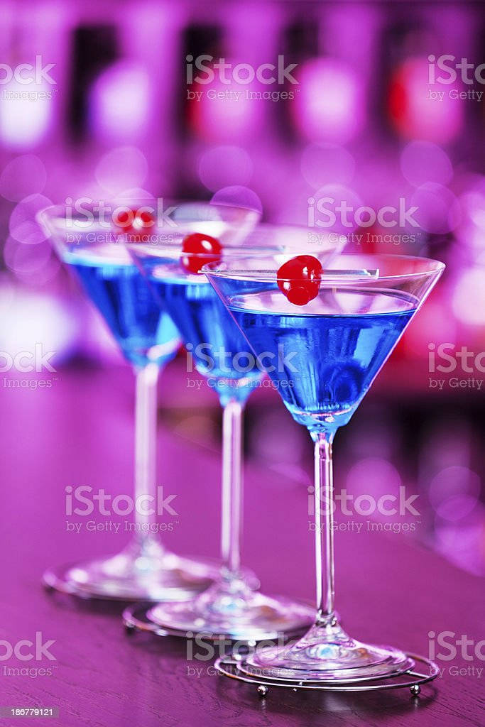 Cocktails Collection - Blue Martini royalty-free stock photo