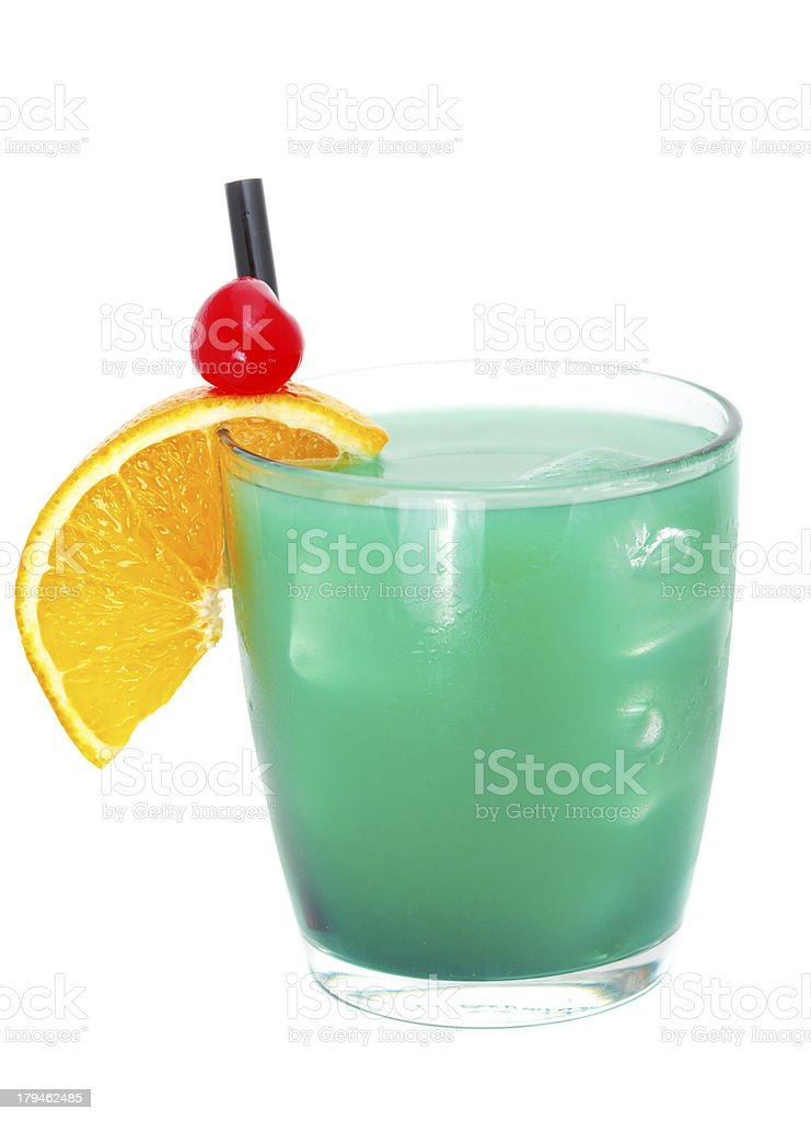 Cocktails collection - Blue Whale royalty-free stock photo
