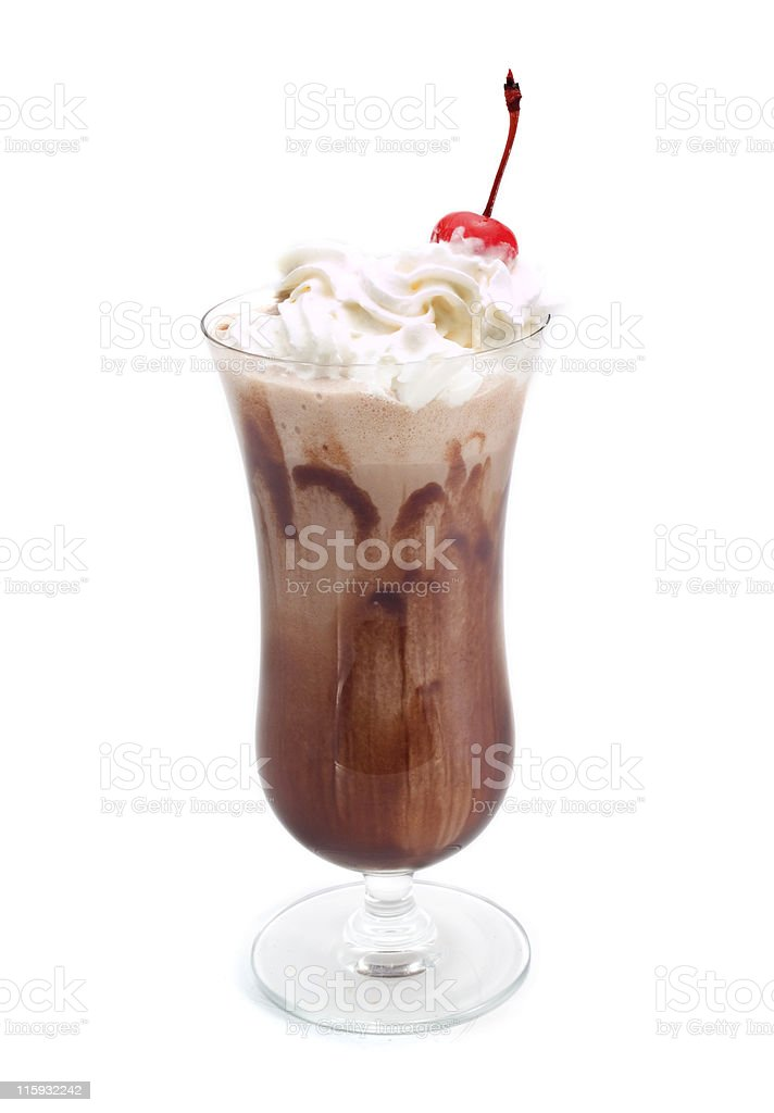 Cocktails Collection - Chocolate Milkshake stock photo