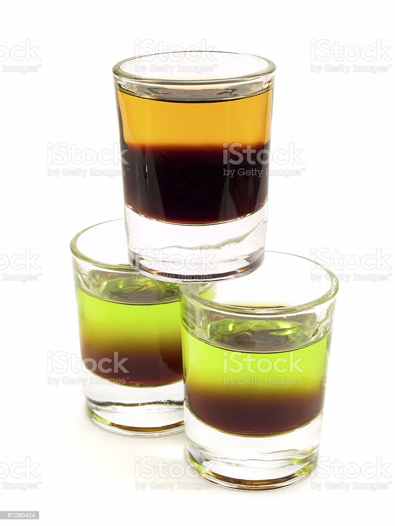 Cocktails Collection - Cockroach and Sh*t on Grass stock photo