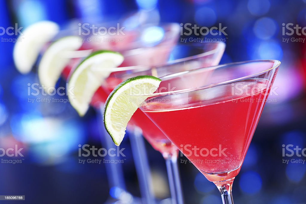 Cocktails collection - Cosmopolitan stock photo