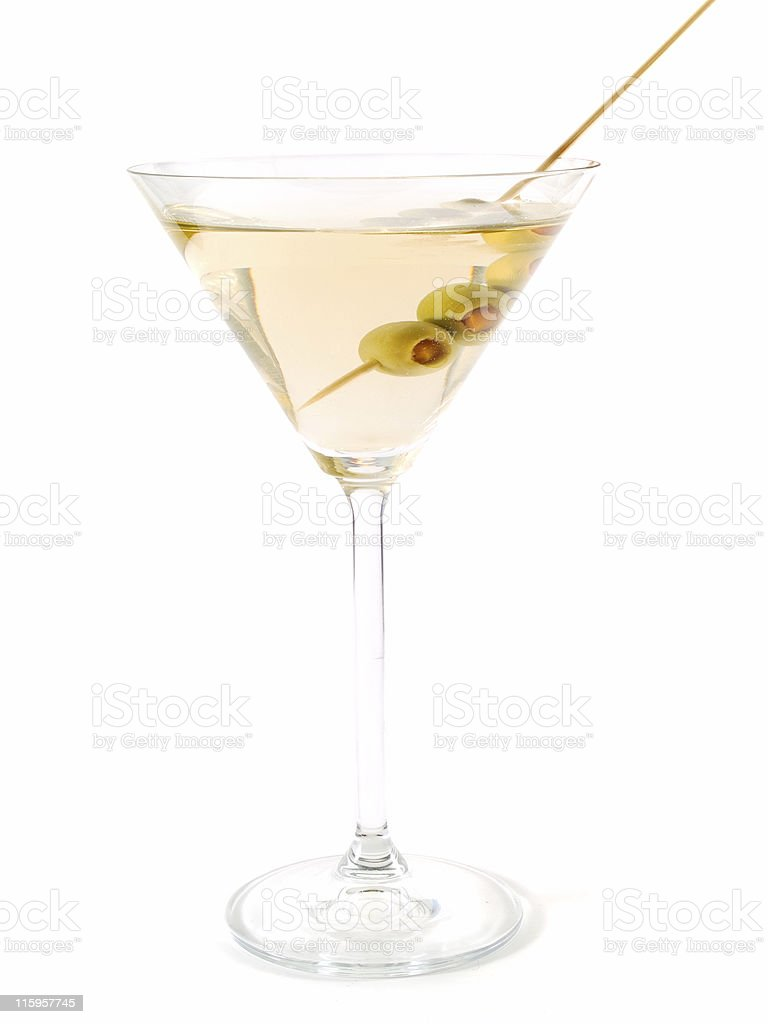 Cocktails Collection - Dry Martini royalty-free stock photo