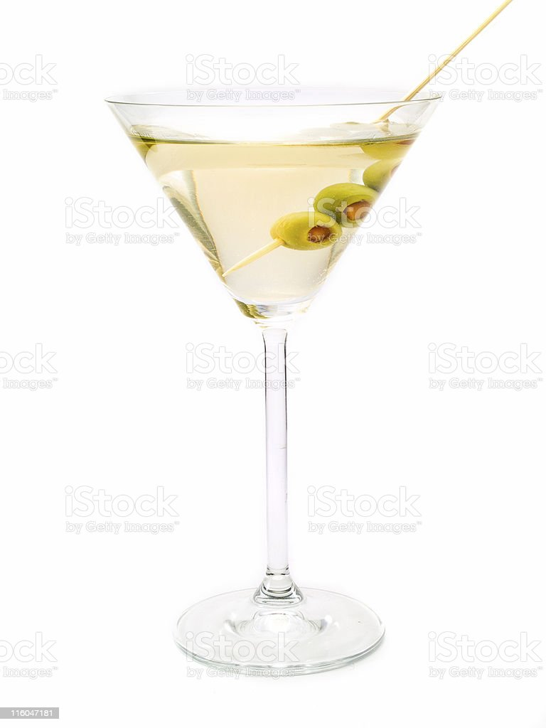 Cocktails Collection - Dry Martini stock photo