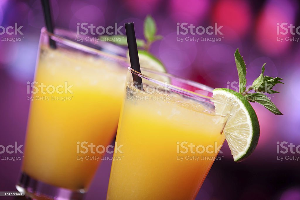 Cocktails collection - Harvey Wallbanger royalty-free stock photo