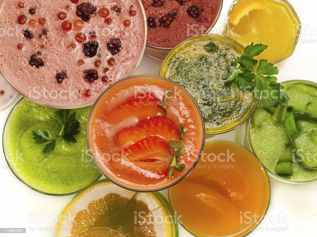 Cocktails Collection - Healthy Drinks royalty-free stock photo