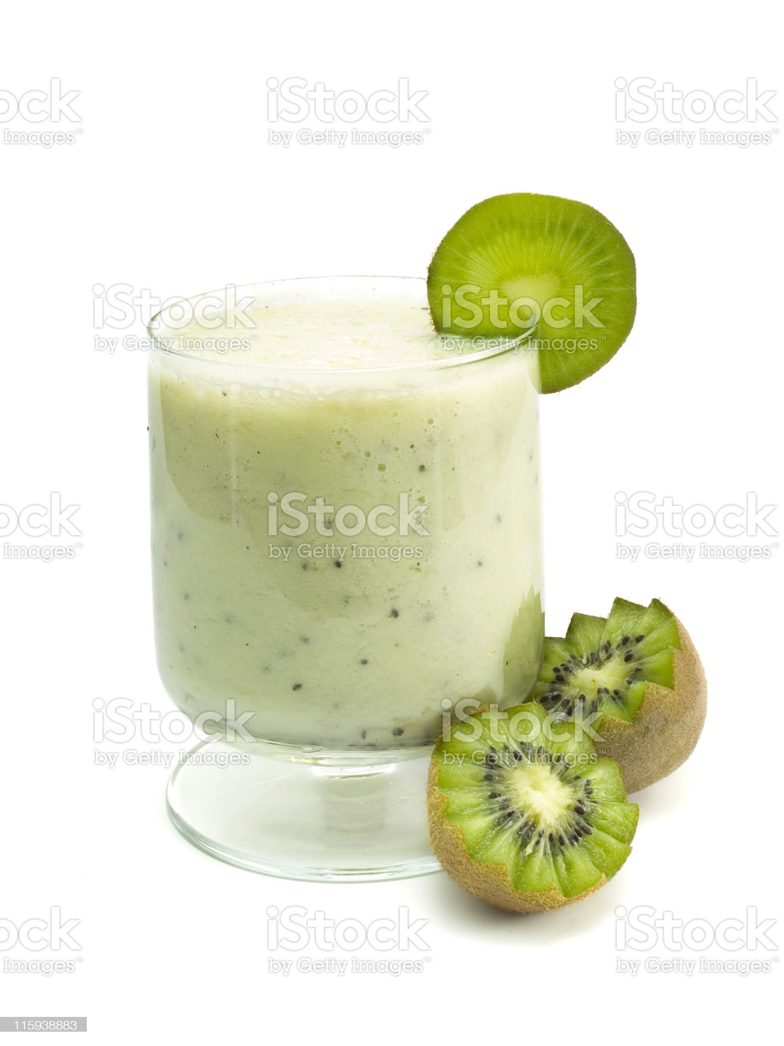 Cocktails Collection - Kiwi Smoothie royalty-free stock photo