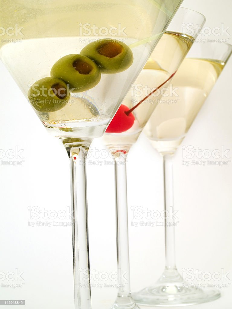 Cocktails Collection - Martinies stock photo