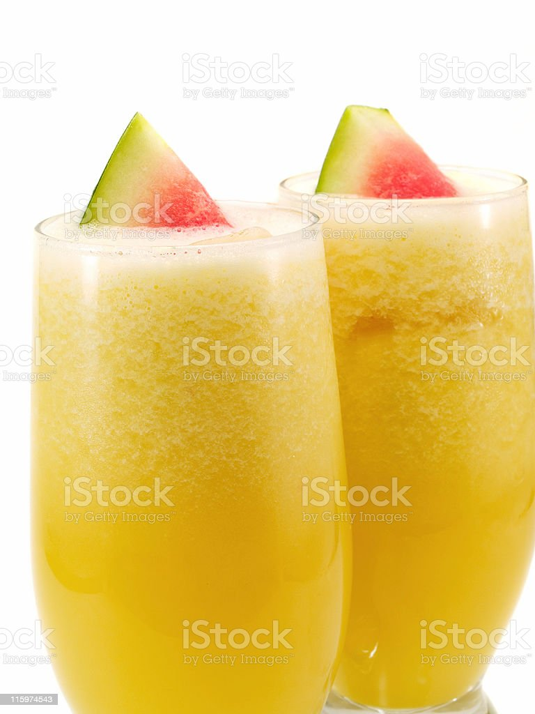 Cocktails Collection - Melon and Orange Smoothie stock photo