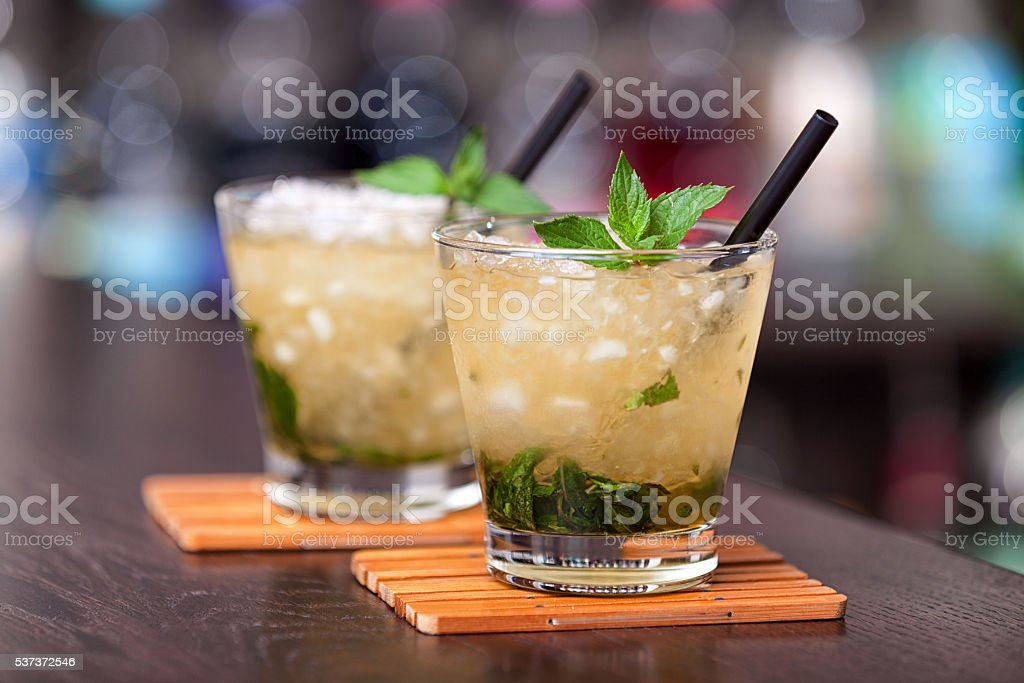 Cocktails collection - Mint Julep stock photo