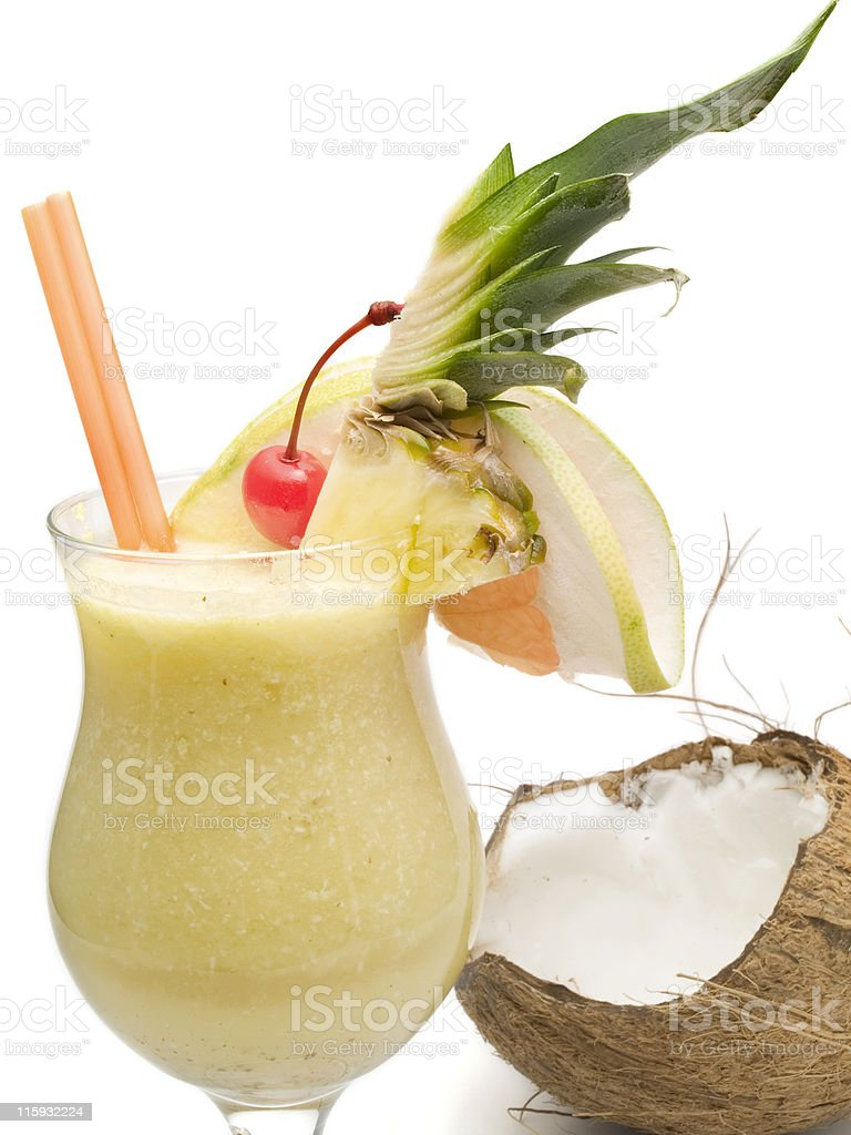 Cocktails Collection - Pina Colada royalty-free stock photo