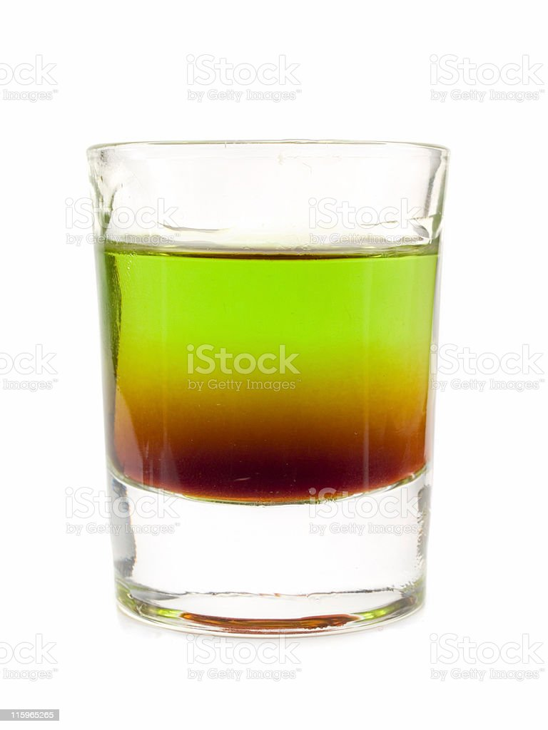 Cocktails Collection - Shit on Grass royalty-free stock photo