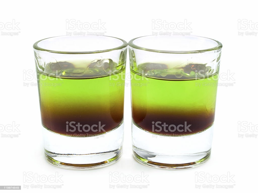 Cocktails Collection - Shit on Grass stock photo